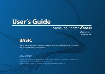 Samsung SL-C430W (SL-C430W/SEE ) - Manuel de l'utilisateur 22.73 MB, pdf, Anglais