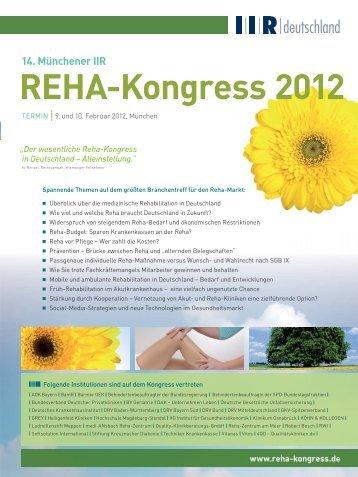 REHA-Kongress 2012 - IIR Deutschland GmbH
