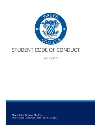 student code of conduct essay Click to view the whole student handbook or the below links are to  the  downloadable version of the student handbook requires adobe acrobat to be.