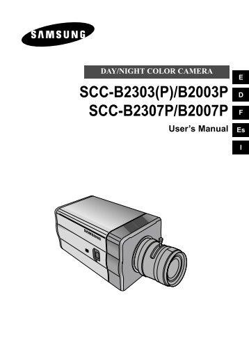 Samsung SCC-B2007P (SCC-B2007P ) - Manuel de l'utilisateur 2.57 MB, pdf, Anglais