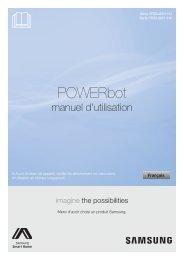 Samsung Aspirateur Robot SR20J9020U Powerbot Cyclone Force (VR20J9020UG/EF ) - Manuel de l'utilisateur (XP / Windows 7) 0.01MB, pdf, Français