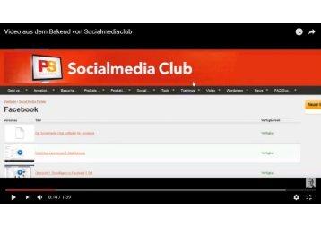 Video aus dem Bakend von Socialmediaclub