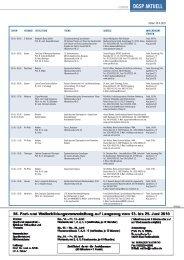 Fort und Weiterbildungsveranstaltungen 29. Mai bis 28. August