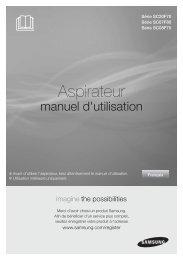 Samsung Aspirateur VCF700G avec Motion Sync Design™, 700 W, Rouge Vital (VC07F70HNUR/EF ) - Manuel de l'utilisateur (Windows 7) 0.01MB, pdf, Français