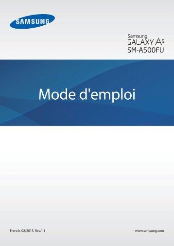 Samsung Smartphone Samsung Galaxy A5 Noir - notice