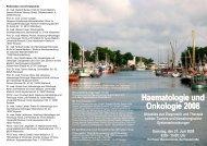 Haematologie und Onkologie 2008 - Hämatologie und Onkologie ...