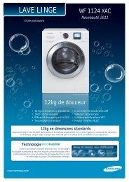 Samsung Lave linge hublot Samsung ECO BUBBLE WF1124XAC - fiche produit