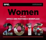 IN THE OPTICS AND PHOTONICS WORKPLACE