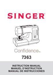 Singer 7363 - English, French, Spanish - User Manual