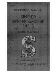 Singer 246-3 - English - User Manual