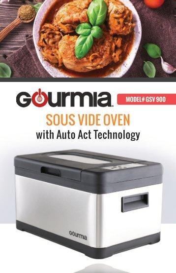 Gourmia 10Qt.Sous Vide Oven -