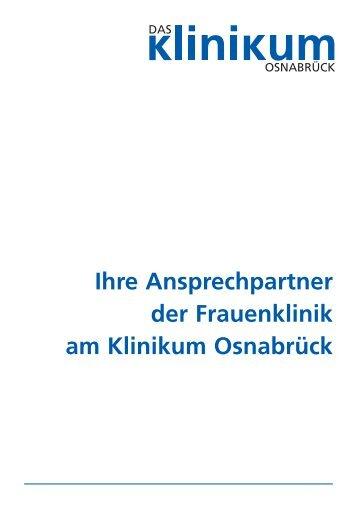 Ihre Ansprechpartner der Frauenklinik am Klinikum Osnabrück finden