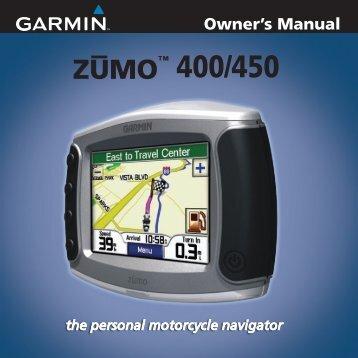 Garmin zūmo® 450 - Owner's Manual