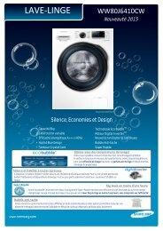 Samsung Lave linge hublot Samsung ECO BUBBLE WW80J6410CW/EF - fiche produit