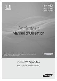 Samsung Aspirateur sans sac Cyclone Force - SC07F50HR (VC07F50HNRB/EF ) - Manuel de l'utilisateur (Windows 7) 11.33 MB, pdf, Français