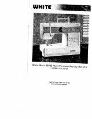 Singer W445 - English - User Manual