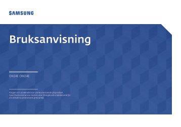 Samsung Moniteur 24'' - 1500 cd/m² - Full HD - OH24E (LH24OHEPKBB/EN ) - Manuel de l'utilisateur 2.95 MB, pdf, Français