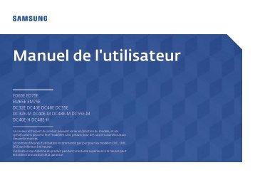 Samsung Ecran LFD 40'' - 350 cd/m² DC40E (LH40DCEPLGC/EN ) - Manuel de l'utilisateur 1.68 MB, pdf, Français