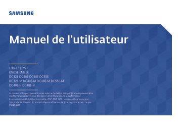 Samsung Ecran LFD 32'' - 330 cd/m² DC32E (LH32DCEPLGC/EN ) - Manuel de l'utilisateur 1.68 MB, pdf, Français