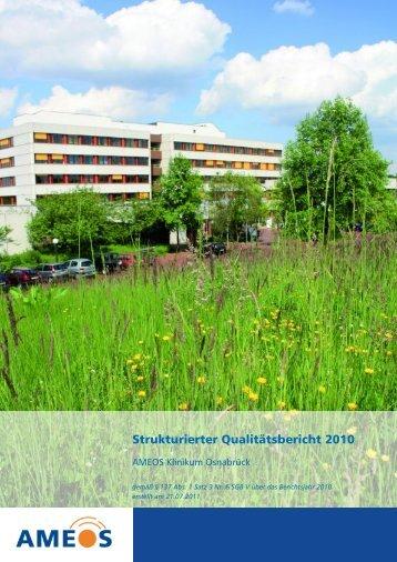 Qualitätsbericht 2010 AMEOS Klinikum Osnabrück