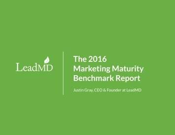 The 2016 Marketing Maturity Benchmark Report
