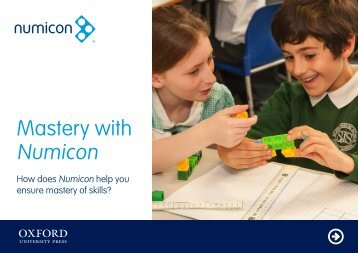 Mastery with Numicon