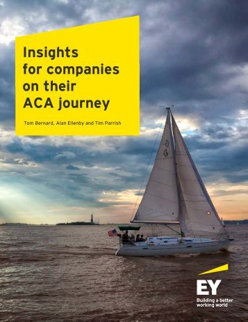 Insights for companies on their ACA journey