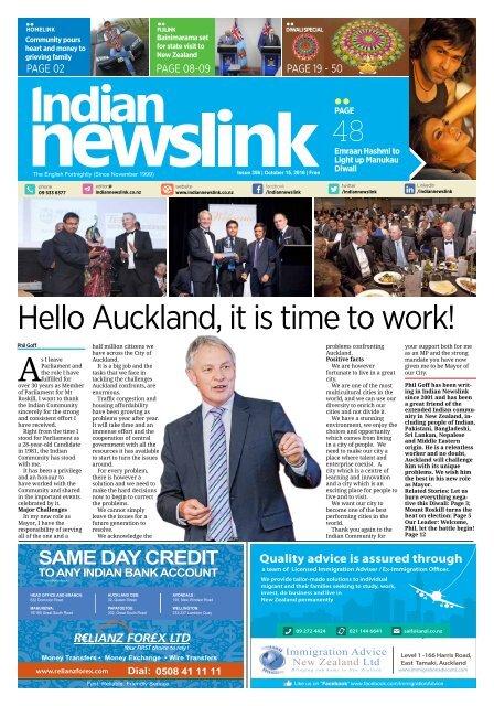 Indian Newslink October 15 2016 Digital Edition