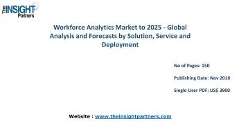 Workforce Analytics Market Share, Size, Forecast and Trends by 2025 |The Insight Partners