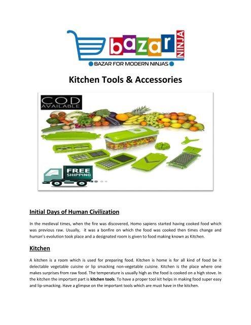 Buy Kitchen Tools Online   Modern Kitchen Accessories   EBazar.Ninja