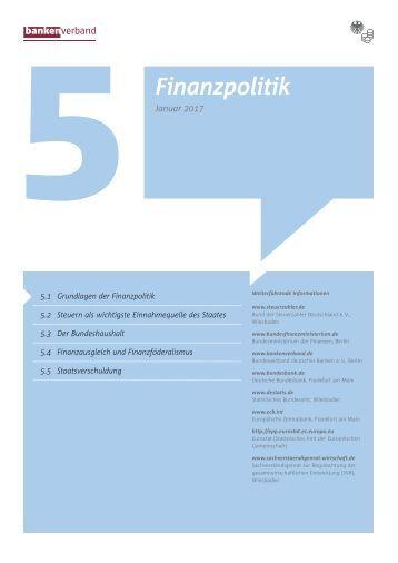Kapitel 5 Finanzpolitik