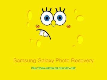Samsung Galaxy Photo Recovery