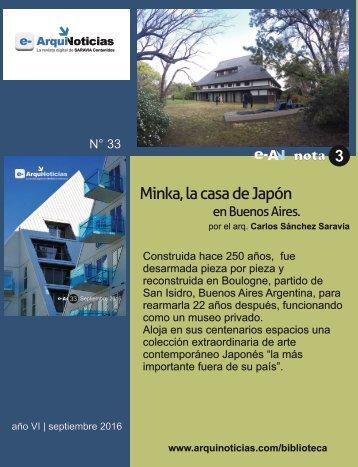 e-AN N° 33 nota N° 3 Minka Casa del Japon en Buenos Aires por el arq. Carlos Sánchez saravia