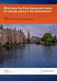 for climate policy in the Netherlands?