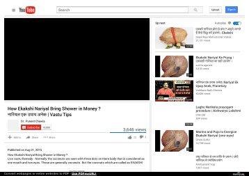 How Ekakshi Nariyal Bring Shower in Money ?