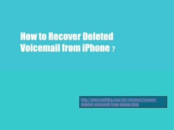 How to Recover Deleted Voicemail from iPhone?