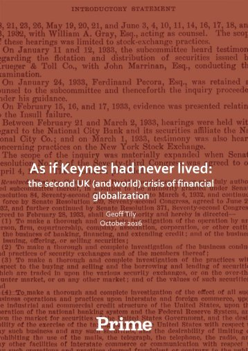 As if Keynes had never lived