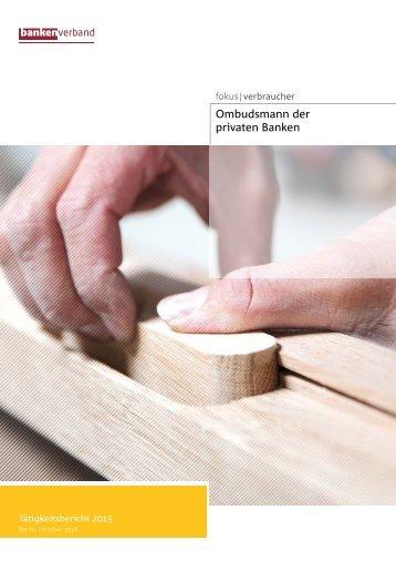 Ombudsmann-Tätigkeitsbericht 2015