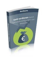 Geld verdienen durch Umsatzbeteiligungen von Websites