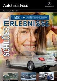 Hauszeitung Herbst 2016 Autohaus Fuss
