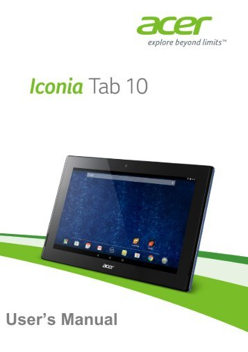 manual acer iconia a3 rh yumpu com Acer A100 7 Inch Tablet Acer Iconia W5