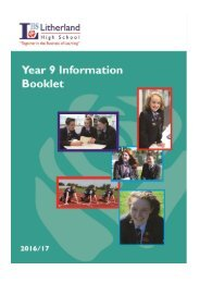 LHS Year 9 Info Booklet