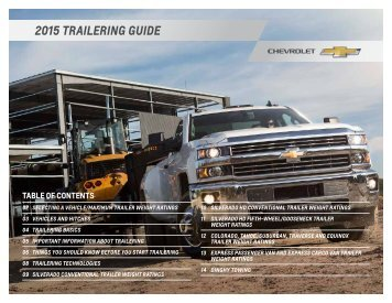 Chevrolet 2015 Silverado - Download Trailering Guide