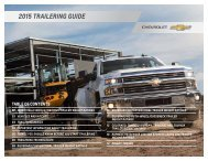 Chevrolet 2015 Suburban - Download Trailering Guide