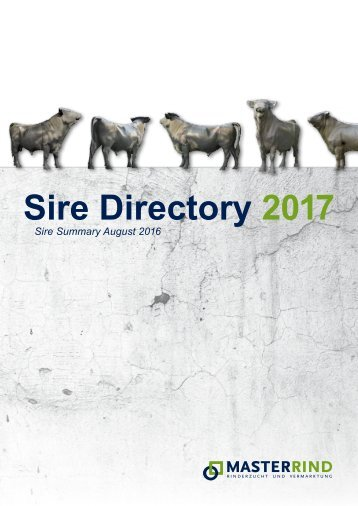 Sire Directory 2017
