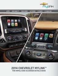 Chevrolet 2014 Silverado 1500 - 2014 Silverado MyLink Details Book