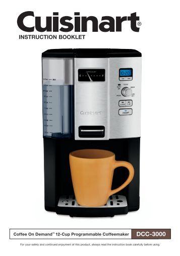 Ge Programmable Coffee Maker Manual : Coffee g