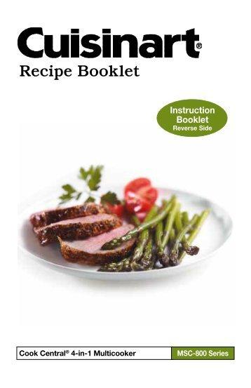 Cuisinart Cook Central -MSC-800 - Recipe Booklet