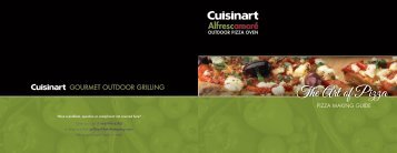 Cuisinart Alfrescamoré Outdoor Pizza Oven -CPO-600 - Recipe Booklet
