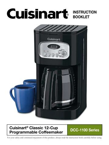 Cuisinart Coffee Maker Manual Dcc 2200 : Cuisinart Brew Central Coffeemaker - DCC-2200 Series